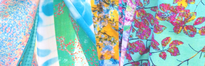 -Cotton-chiffon Scarves made in Britain