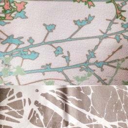 Spring foliage print samples